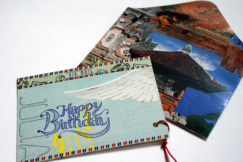 """Postkarte """"Happy Birthday"""""""